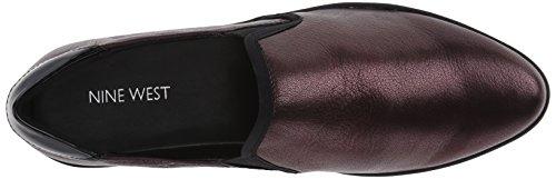 Nove West Womens Lildevil Metallic Fashion Sneaker Rosso Scuro / Multi
