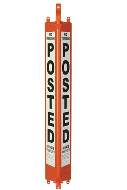 3D Post No Trespassing Sign - 24'' C-Series Case of 12