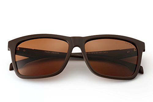 b951107992 FEIDU Cocoons Fitovers Polarized Sunglasses Aviator (XL) Brown3 ...