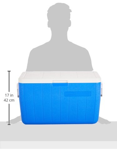 Coleman 48-Quart Performance Cooler 2 Tall enough to carry 2L bottles upright to help prevent messes during transport ThermOZONE insulation doesn't contain CFCs, HFCs or HCFCs, which deplete the ozone layer Hinged lid makes getting to your favorite treats easier