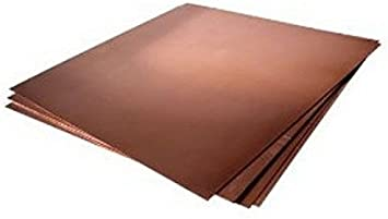 "16 ga Copper Sheet Metal Plate 6/"" x 24/"""