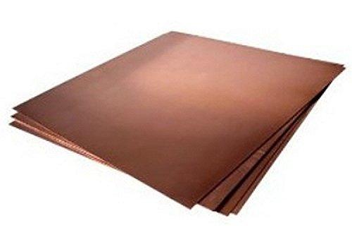 """16oz Copper Sheet (0.0216"""") (24 Ga) 12""""x36"""" - Unpolished 31tVGNc95fL"""