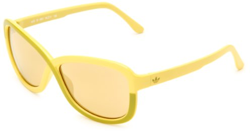 adidas Women's Tokyo Ah29-6051 Butterfly Sunglasses,Yellow Melon Frame/Gold Mirror Lens,58 Mm