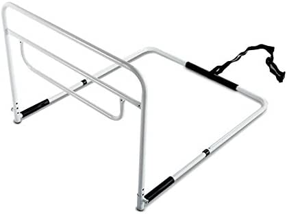 RMS Single Hand Bed Rail - Adjustable Height Bed Assist Rail, Bed Side Hand Rail - Fits King, Queen, Full & Twin Beds (Single Hand Rail)
