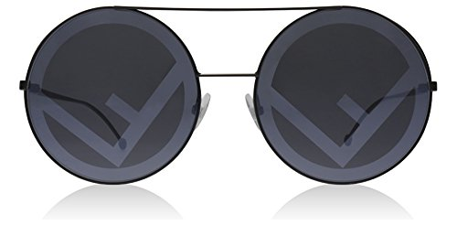Fendi FF0285/S 807 Black FF0285/S Round Sunglasses Lens Category 3 Lens - Run Sunglasses