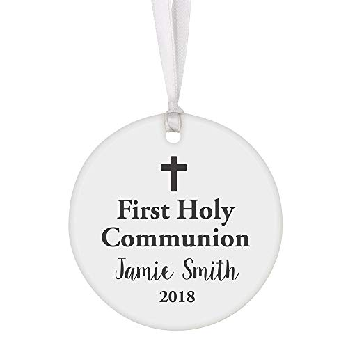 - Perfect Memorials First Holy Communion Personalized Porcelain Ornament