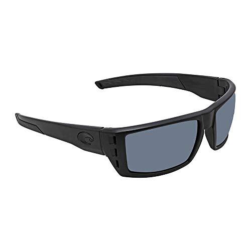 Gray Lens Plastic (Costa Del Mar Rafael Sunglasses, Blackout, Gray 580 Plastic Lens)