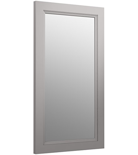 KOHLER K-99665-1WT Damask Rectangular Framed Mirror, 36.75