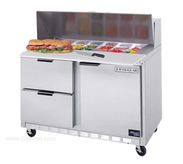 - Beverage Air SPED48-08-2 Elite Series Sandwich Top Refrigerated Counter