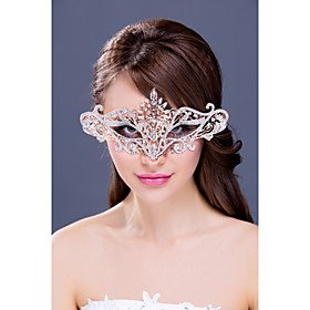 FLOW ZIG Women's Rhinestone/Alloy Headpiece - Wedding/Special Occasion Masks 1 Piece by FLOW ZIG