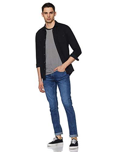 Spykar Men's Skinny Fit Jeans 2021 July Care Instructions: Machine Wash Fit Type: Skinny Color name: Dk.Blue