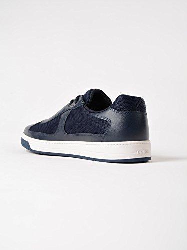 Sneakers Navy amp; Leather Prada 4E3166 Mesh Men's xfvpRqpw47