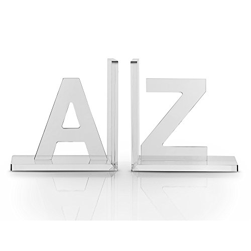 OnDisplay Vandue Luxe Crystal Acrylic Bookends A to Z