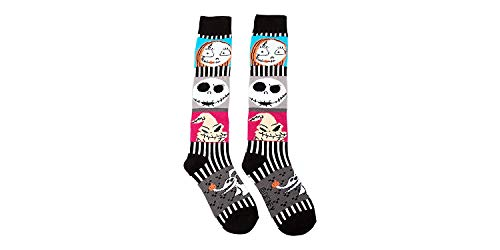 Nightmare Before Christmas Ladies and Juniors Sweater Knee Socks, Sock Size 9-11 Shoe Size 4-10