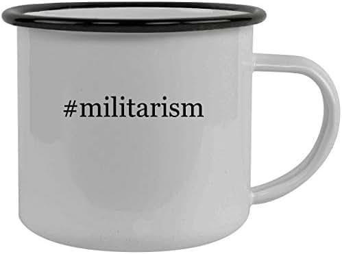 #militarism - Stainless Steel Hashtag 12oz Camping Mug, Black