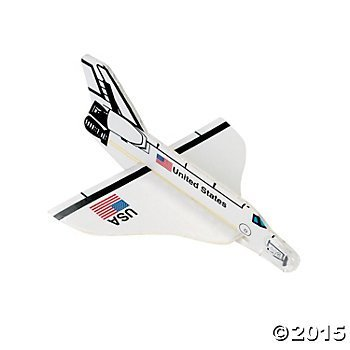 2 Dozen (24) US Space Shuttle FOAM Gliders - PARTY FAVORS - USA United States - Rocket by FX]()