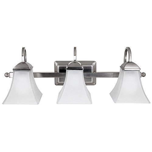 Hampton Bay, 73958/HD, 3-Light Brushed Nickel Integrated LED Vanity Light