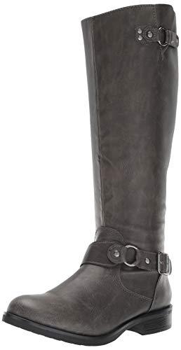 Madden Girl Women's FAYETTEE Equestrian Boot, Stone Paris, 6.5 M US