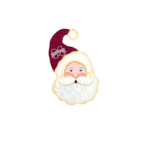 - The Round Top Collection Gameday Santa Face Wood - Mississippi State University - Metal and Wood
