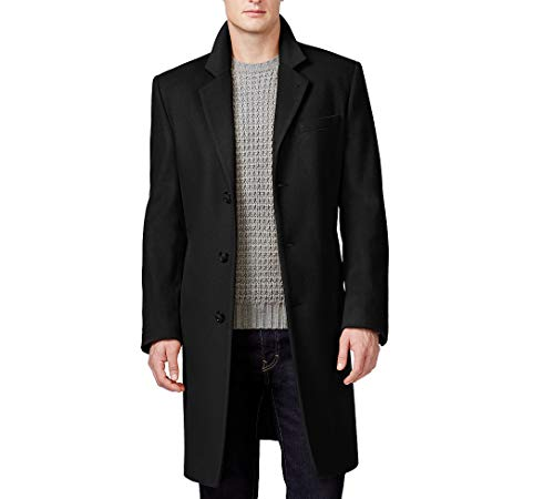 - Michael Kors Men's Madison Top Coat, Solid Black, 36S