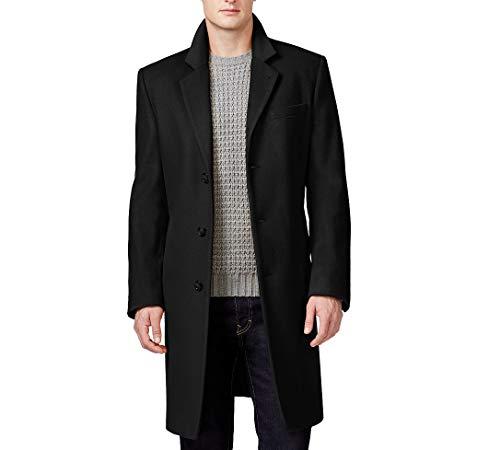 - Michael Kors Men's Madison Top Coat, Solid Black, 36S