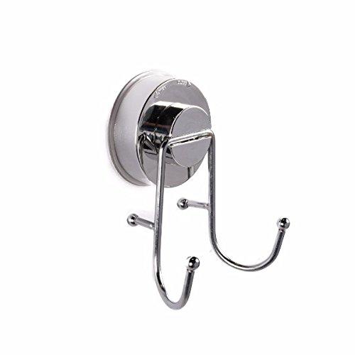 Kampa Suction Fitting Double Hook for Caravan/Motorhome / Bathroom, etc.