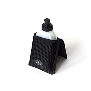 "Buddy Pouch H2O (Black)- Magnetic, Personal Hydration Pouch. No Belt or Clip. (4""L x 4""W)"