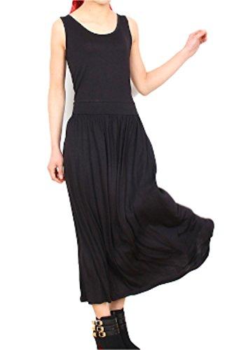a8fcf85e6481b Li09 ガレット デ ロワ レディース ファッション ワンピース 綿 ロング 細見せ マキシ ワンピ 体型カバー フレア