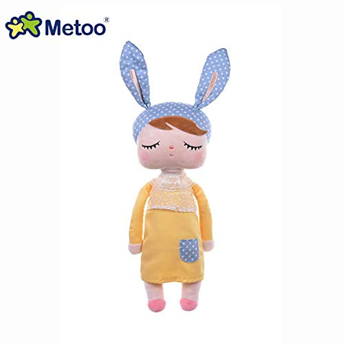 JEWH Plush Sweet, Cute, Lovely Stuffed Bonecas - Baby Kids Toys for Birthday Angela Rabbit Girl MeToo Doll (13 Inch) ( 3 ) from JEWH