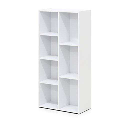 Furinno 7-Cube Reversible Open Shelf, White 11048WH