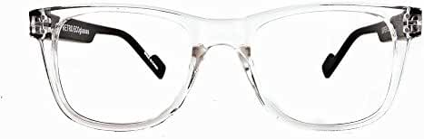 Retro Eyeworks Superflex Wayfarer Bifocal Reading Glasses 51-19 MM 2.0x Transparent Clear
