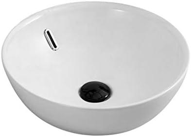 BoPin (タップなし)バスルームの洗面台、セラミックカウンタートップ洗面ホームホテルシンク洗面化粧台シングル盆地、56.8X38X12cm ベッセルシンクシンク (Size : 41X41X15cm)