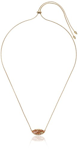 Kendra Scott Meghan Gold Plated Crackle Brown Mother of Pearl Pendant Necklace, 28