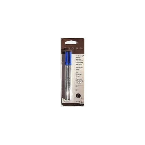 Cross Blue Gel Ink Rolling Ball Refill 12 Pack for Selectip Pens - 12 Refills ()