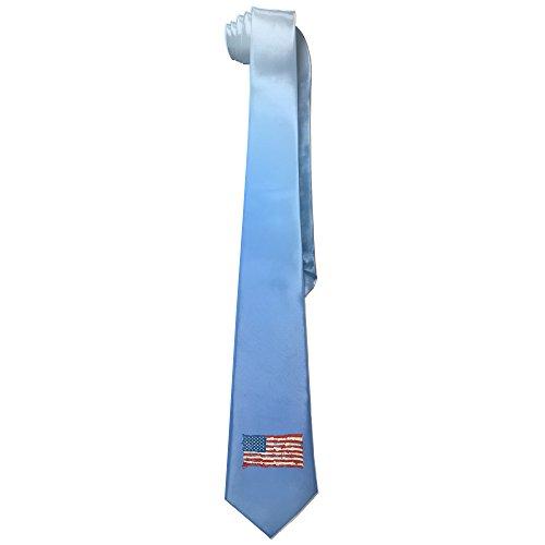 [Ggift Distressed American Flag Men's Fashion Business Solid Necktie Tie] (Matt Barkley Costume)