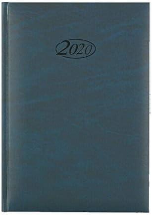 Stylex Buchkalender für 2020 blau A5, 1 Stück
