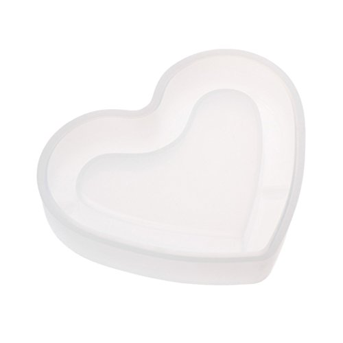 Hibye Ashtray Jewelry Molds, Silicone Resin Molds for Polymer Clay, Pendant, Mirror, Epoxy Resin, Jewelry Making (Love)