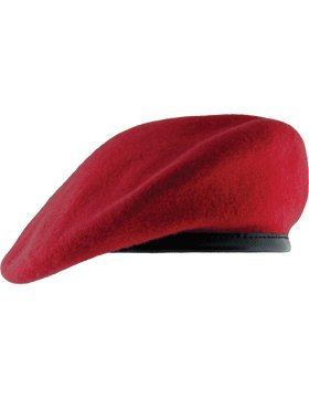Unlined Beret with Leather Sweatband (6 7/8,
