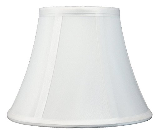 Urbanest Softback Bell Lampshade, Faux Silk, 5-inch by 9-inch by 7-inch, Off White, Spider-fitter