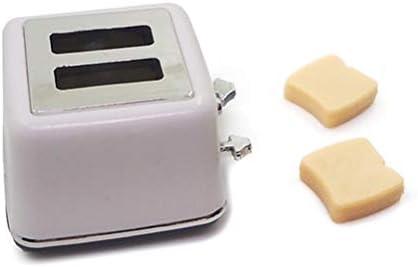 トーストミニチュアドールハウスキッチンアクセサリー装飾付き1/12スケールドールハウスミニパンマシン