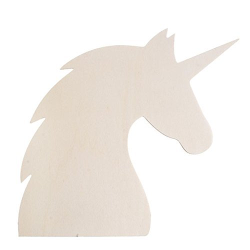 Darice Wood Unicorn Profile Cutout -