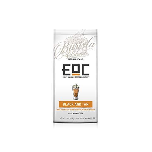 Eight O'Clock Coffee Barista Blends, Black & Tan, 11 Ounce