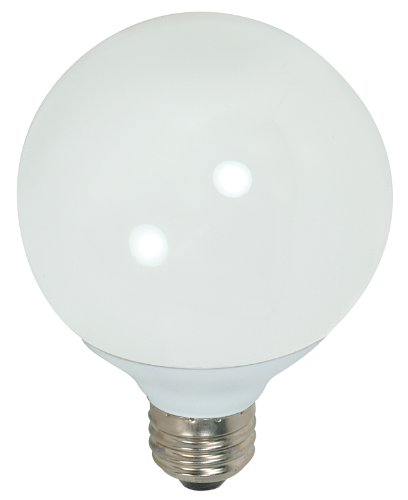 Satco S7306 15-Watt Medium Base Globe, 5000K, 120V, Equivale