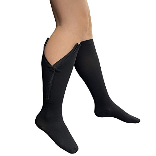 Starmace Closed Toe Zipper 20-30 mmHg Compression Socks Varicose Veins Stocking