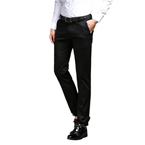 Negocio Battercake Cómodo De Pantalones Chinos Delgados Diseñador Hombres Planos Traje Ocasionales Del Negocios Schwarz Formales Los Clásicos ZqxZwRrA