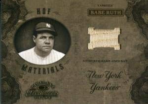 Babe Ruth Unsigned 2003 Timeless Treasures Bat Card - Baseball Game Used Cards