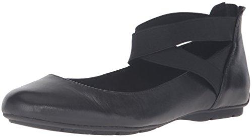 Anne Klein AK Sport Women's Itcanbe Leather Ballet Flat Black 7 M US