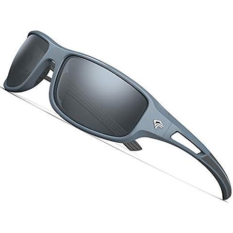 165c8849658 TOREGE Polarized Sports Sunglasses for Men Women Cycling Running Driving  Fishing Golf Baseball Glasses EMS-