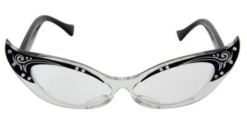 E323330/50 (Black/Clear) Vintage Cats Eye