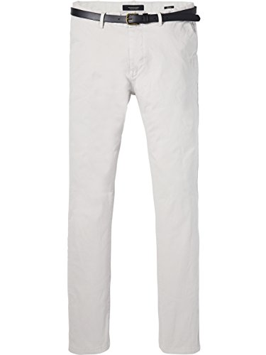 Chino Dyed Pantalones Soda Pant 0169 amp; Hombre light Stretch Gris Grey Para Classic Scotch Garment In Cotton Quality BwpqWXwI